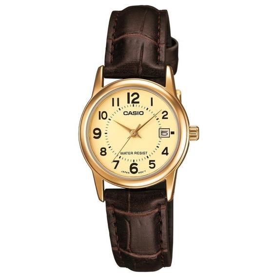 Relógio Casio Ltp-v002gl-9budf Dourado