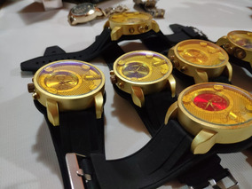 Relógio Mascuiino Banhado A Ouro De Luxo Gold 18k Original