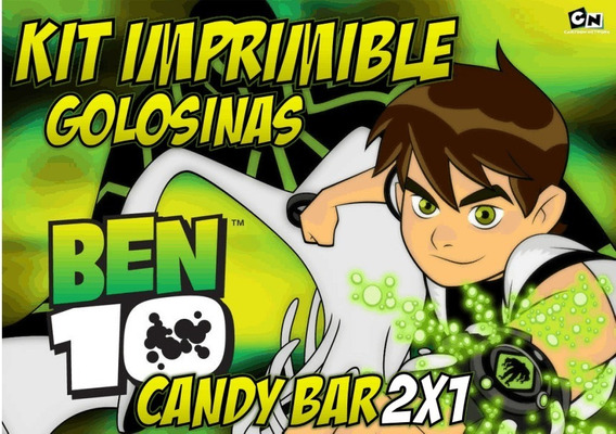 Kit Imprimible Ben 10 Ben10editable Candy Bar Golosinas