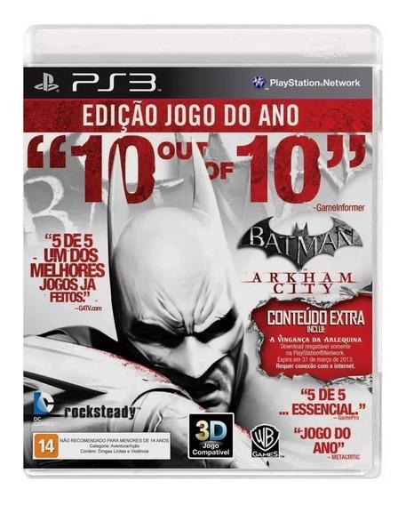 Batman Arkham City Edição Jogo Do Ano Ps3 Lacrado