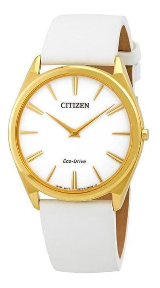 Relógio Citizen Eco-drive Stiletto Ladies Couro Branco