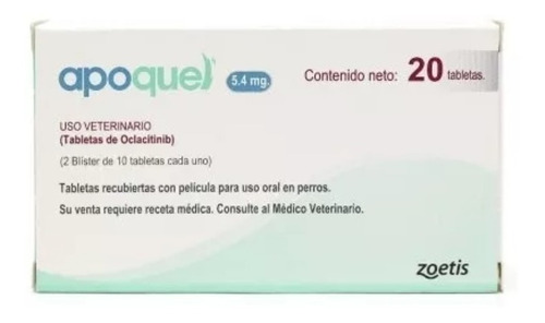 Apoquel Dermatologico Zoetis 5.4mg 20 Tabs