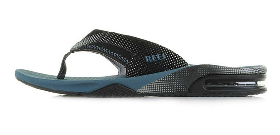 Reef Ojotas Fanning Prints Black/steel Blue (3092)