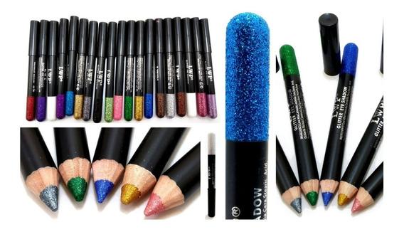 Crayon Sombra De Ojos Glitter Con Brillo Lwp Por Unidad