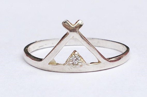 Anel Triângulo Prata 925