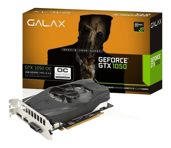 Placa De Vídeo Galax Gtx 1050ti Oc 4gb Ddr5 128bit Dvi Hdmi