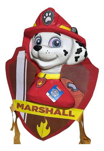 Imagen 1 de 9 de Piñata Marshall 70cm Chase Paw Patrol Original Oferta Fiesta