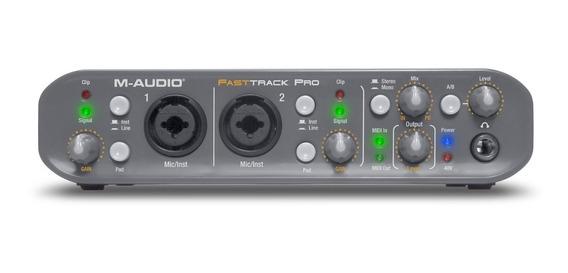 Placa Interface M-audio Fast Track Pro 4x4 2.0