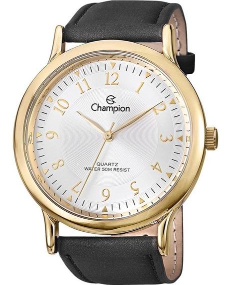 Promoção Relógio Champion Masculino Couro Ch22813b Origin