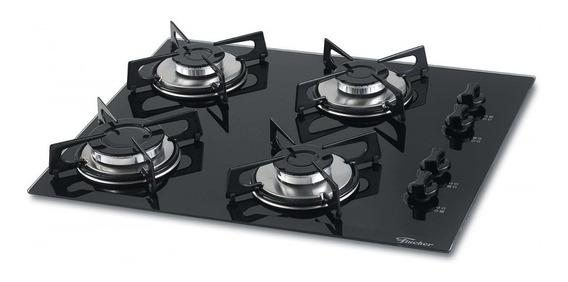 Fogão cooktop a gás Fischer 1519-5713 preto-ébano 110V/220V