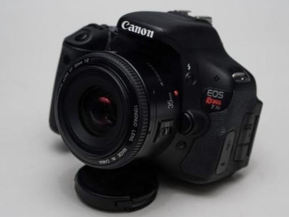 Canon Rebel T3+ Lente Yongnuo 35 Mm+ Bolsa+ Carregador