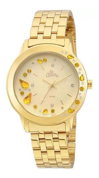 Relógio Allora Feminino Dourado Analógico Metal Al2036fgl/4x