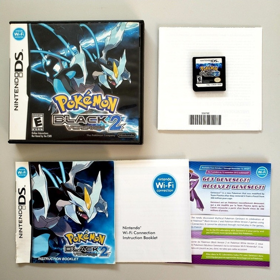 Pokémon Black 2 Version Original Ds Nintendo 3ds