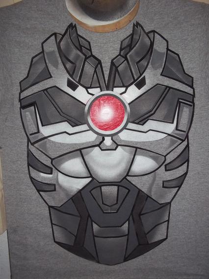 Playera Cyborg Dc Comics Aerografia