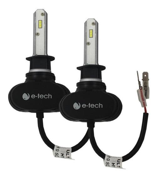 Kit Lâmpada Ultra Led Automotiva E-tech H1 40w 8000k 6000 L
