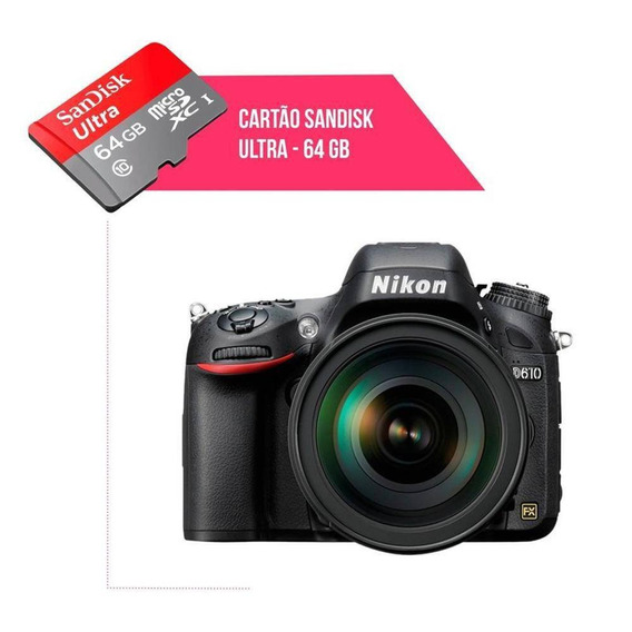 Cartão De Memória 64gb Ultra Para Câmera Nikon D610