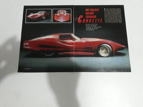 Propaganda Antiga Chevrolet Corvette Raro Anúncio Publicidad