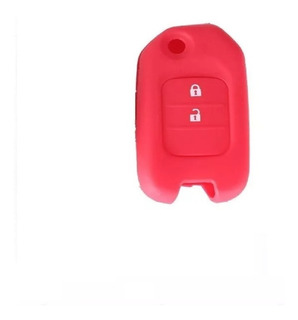 Kit 2 Silicone Chave Canivete Honda Civic Fit City Crv Verm
