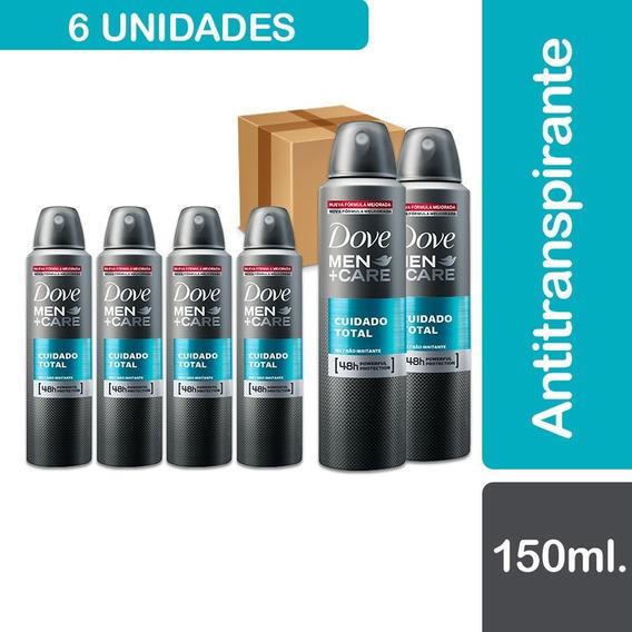 6 Desodorantes Spray Dove Men Care Clean Comfort 89 G