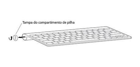Tampa Para Compartimento De Pilha Teclado/trackpad Apple