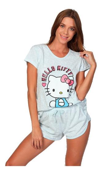 Pijama Para Mujer Hello Kitty Incluye Blusa Y Short 5005