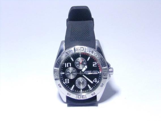 Relógio Technos Skymaster 6p89-ae Aço Inox Resist Água 10atm