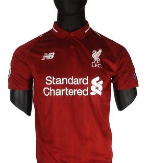 Camiseta Liverpool Champions 2018/19 - Salah, Firmino, Mané