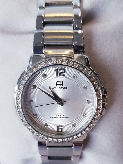 Relógio Feminino Prateado Ana Hickmann