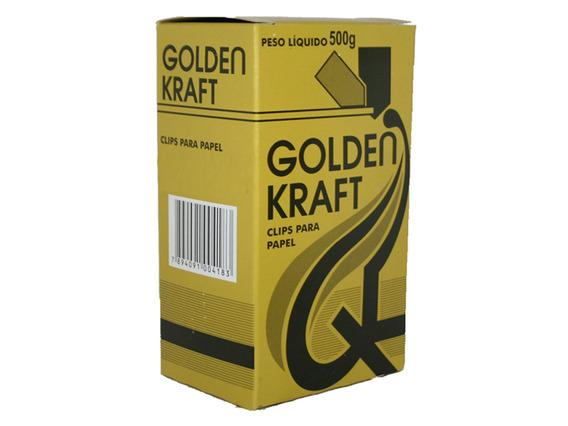 Clips Nº 2/0 Com 500 Gramas Golden Kraft