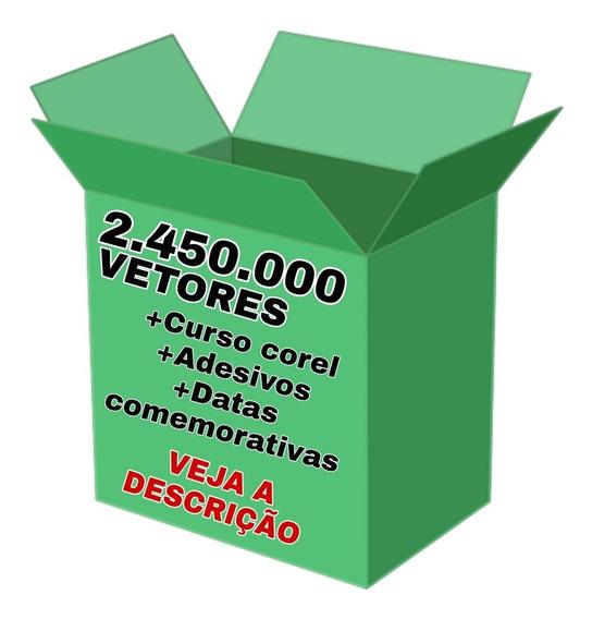 2.450.000 Vetores + Curso Corel Draw + Datas Comemorativas