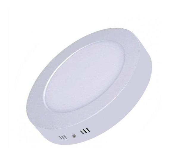 5 Un - Luminária Plafon Led 18w Sobrepor Redonda