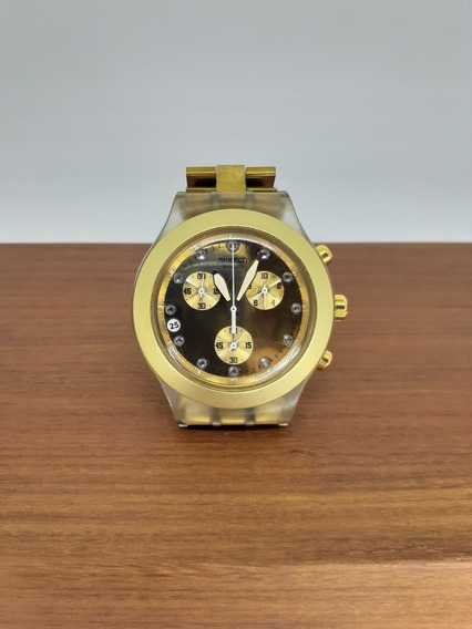 Relogio Swatch Full Blooded Dourado Svck4032g
