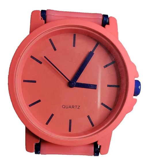 Relógio De Pulso Feminino - Quartz Rosa-salmão