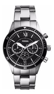 Reloj Fossil Cronógrafo Plata De Acero Inoxidable