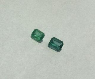 Duas Esmeraldas Naturais Total De 0,32 Quilates - Lote 14