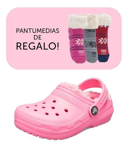 Crocs Corderito Originales Niños Classic Lined+pantus Regalo