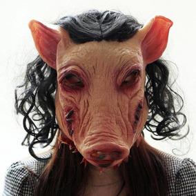 Máscara Porco Pig Látex Realista Fantasia Carnaval Halloween