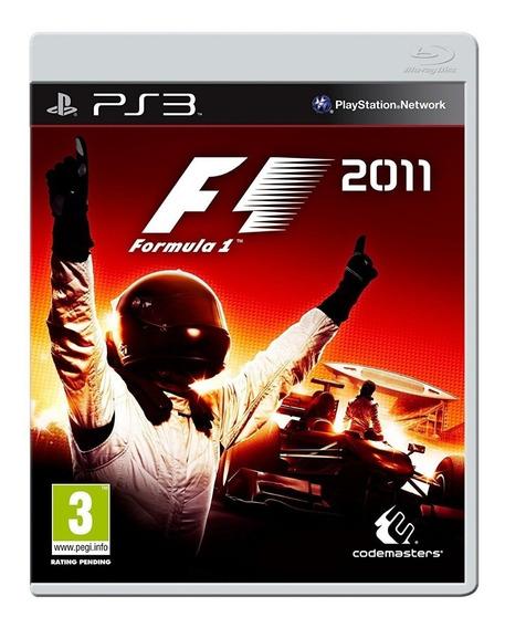 Jogo Formula 1 F1 2011 - Ps3 Mídia Física Dublado Português