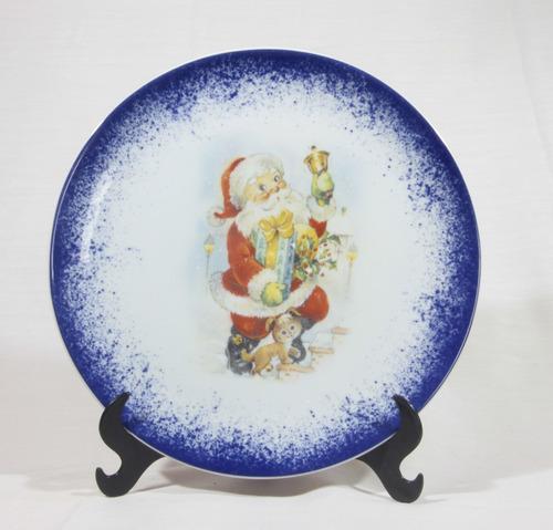 Imagem 1 de 6 de Prato Decorativo Natal 26 Cm Noel