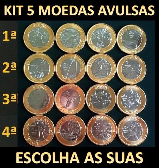Kit 5 Moedas Avulsas Olimpíadas Rio 2016 - Jogos Olimpicos