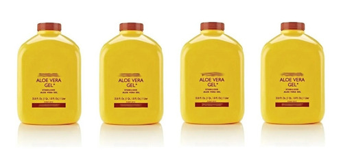 Kit Quatro Suco De Aloe Vera Gel Natural