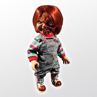 Childs Play 3 Chucky Pizza Face Mega Scale Con Sonido Mezco
