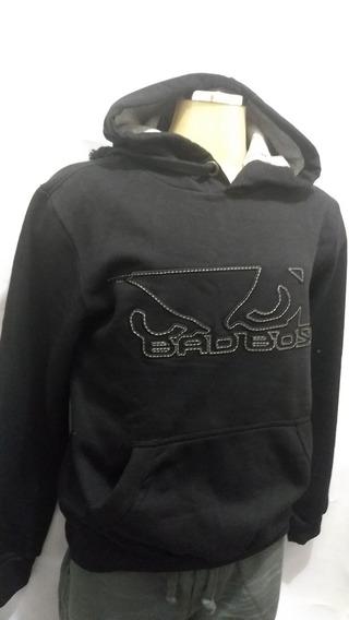 Kit Moletom Masculino Bad Boy Capuz Bordado Black E Camiseta