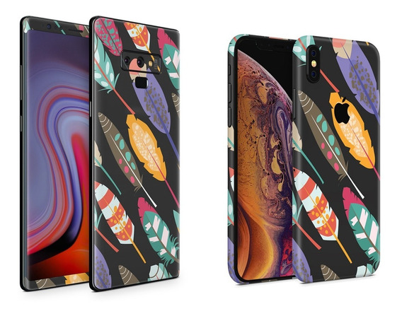 Skin Plumas Apple Samsung Huawei Lg Sony Xiaomi Etc