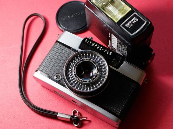 Câmera Analógica Olympus Pen Ees 2 (revisada) + Acessórios