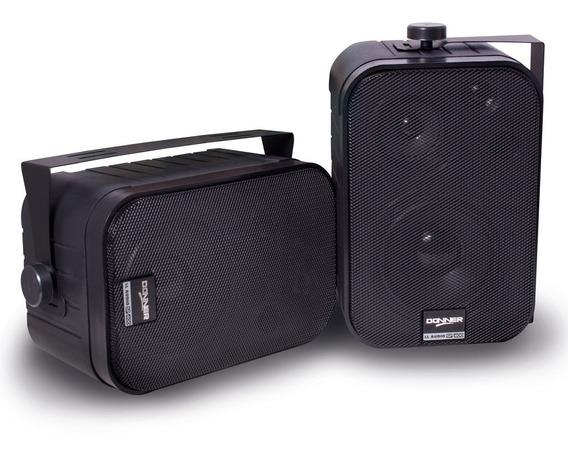 Caixa De Som Ambiente Interno Kit 2 Caixas Sp400 60w Donner