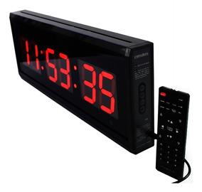 Relógio Temporizador Cronômetro Contagem Temperatura 48x18cm