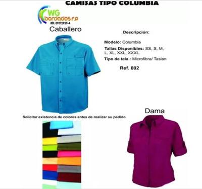 Chemis, Camisa Tipo Columbia, Franelas , Serv. De Bordados