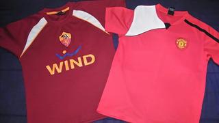 Camisas Infantil - Manchester United E Roma - Licenciadas