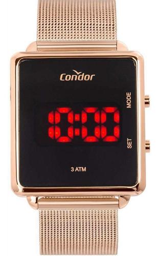 Relógio Condor Feminino Digital Rose Milanese Cojhs31bab/4j